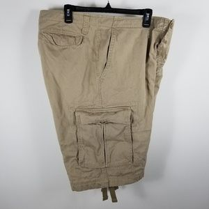 NIKE KHAKI COTTON CARGO SHORTS MEN Size XL